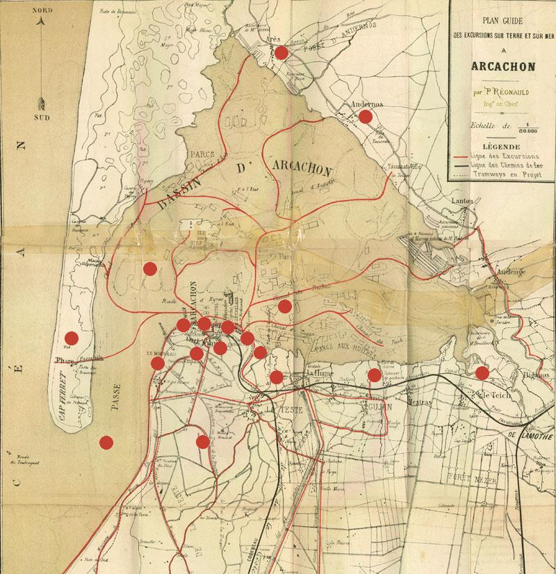 bassin d arcachon carte Arcachon   Carte du bassin d'Arcachon