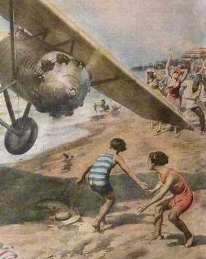 Un avion fou plage des Abatilles