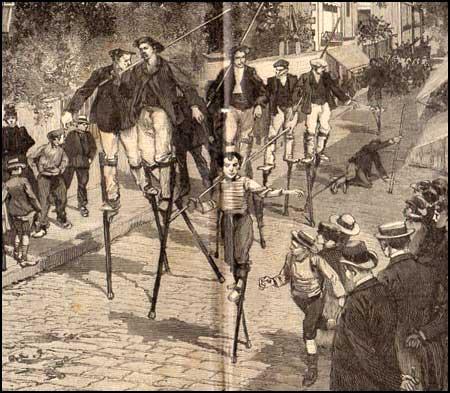 Course d'�chasses dans les rues d'Arcachon
