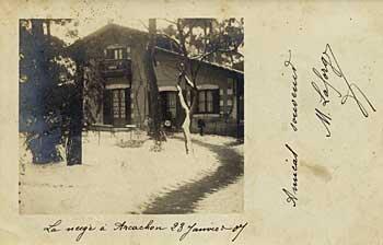 Magdala sous la neige en janvier 1907